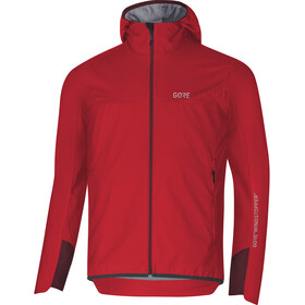 GORE WEAR H5 Windstopper Chaqueta aislante con capucha Hombre, red/chestnut red